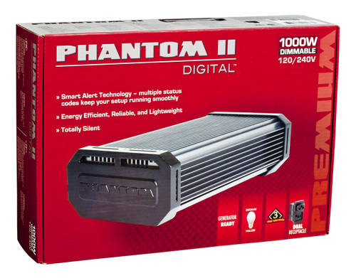 Phantom II Electronic Ballast 1000w Dimmable w/ Digilux HPS Bulb