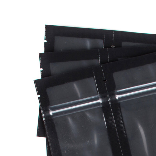Black/Clear SHIELDNSEAL 3x5 precuts with zipper 50 count per box