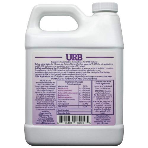 URB Natural Plant Stimulator Humic Acids and Bacteria 1L