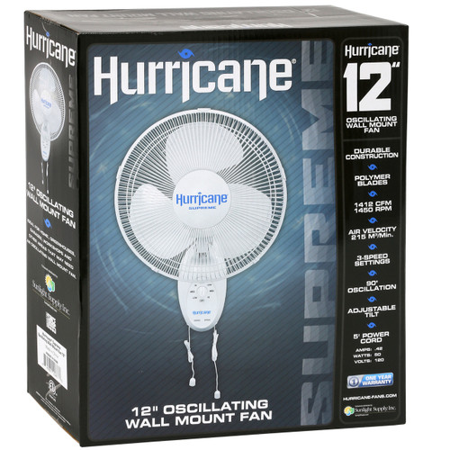 Hurricane Supreme Wall Fan - 12""