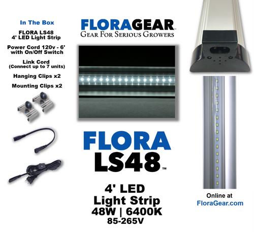 FloraGear Flora LS48 LED Light Strip 6400k 48w