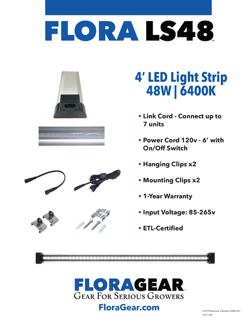 FloraGear Flora LS48 LED Light Strip 6400k 48w