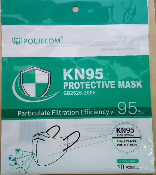 POWECOM Respirator KN95 Protective Face Mask 10Pcs