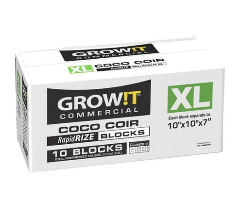 "GROW!T Commercial Coco XL Block 10""x10""x7"" case 10ct"