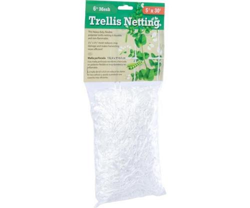 "Trellis Netting, HF 5' x 30', 6"" Mesh"