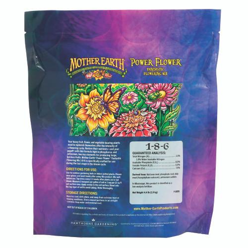 Mother Earth Power Flower Fantastic Flowering Mix 1-8-6 Back
