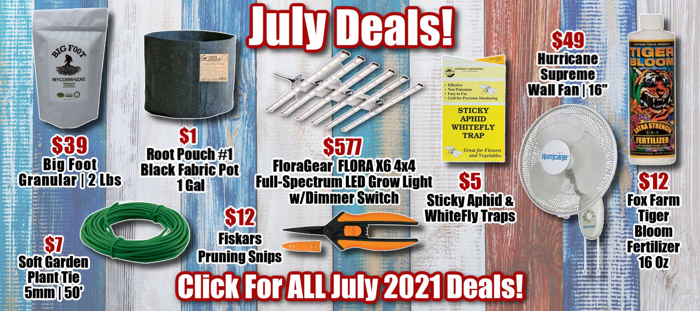 Monthly Specials for July
