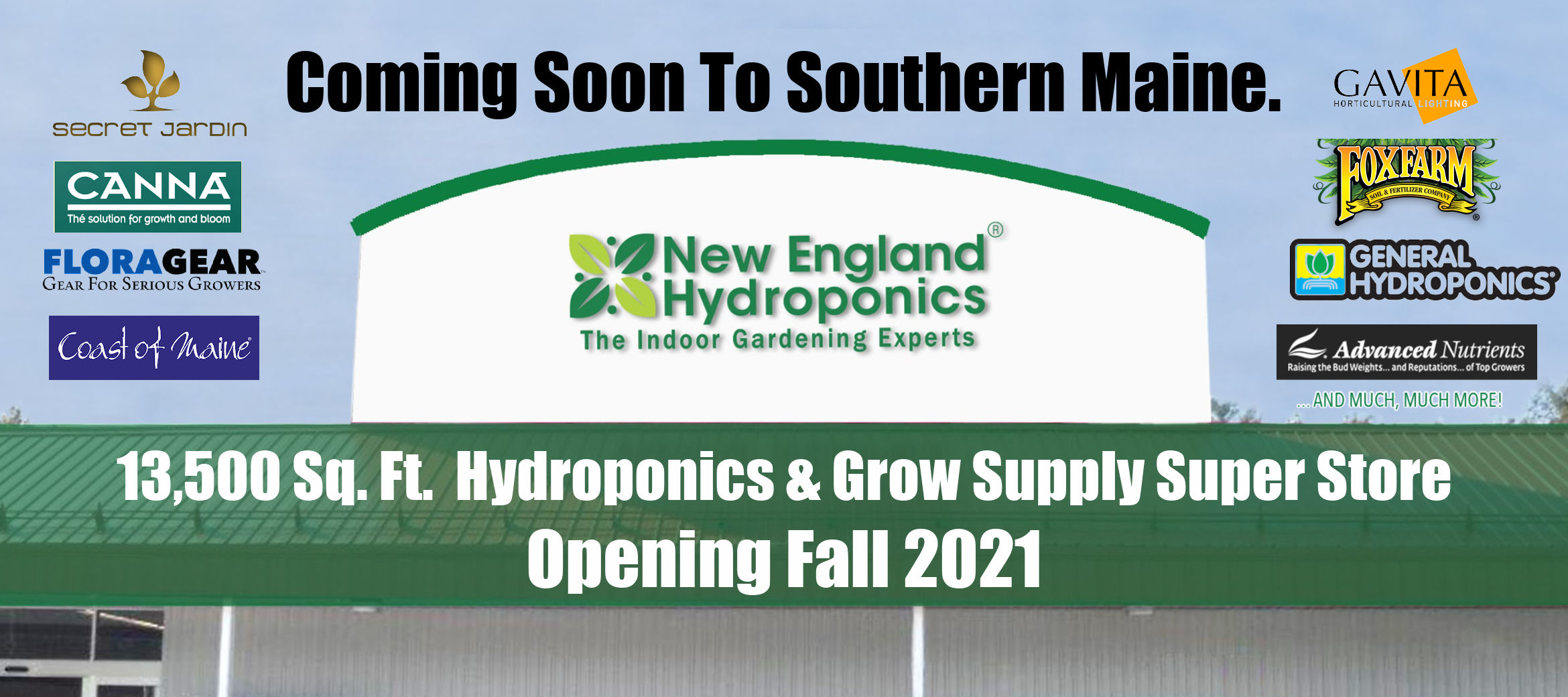 Coming Soon to Southern Maine