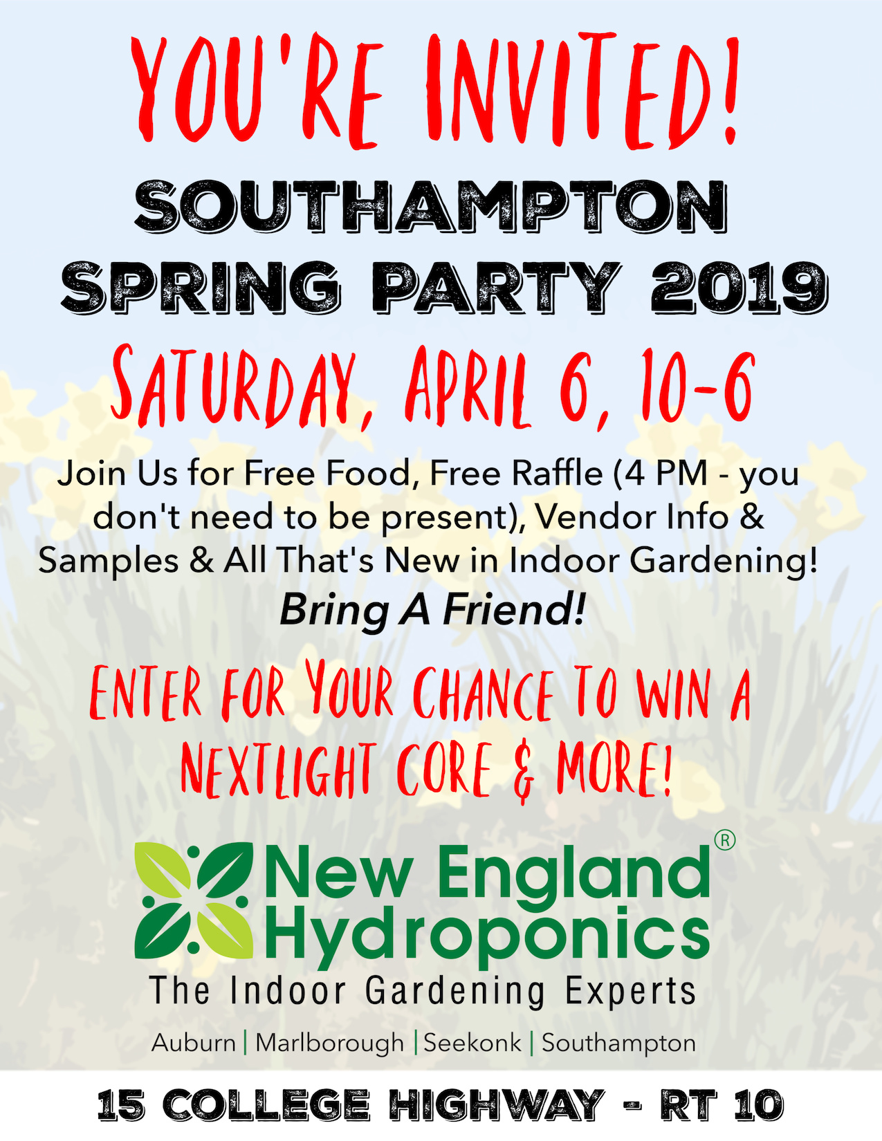 Southampton Spring Party is April 6 - Join Us!!!