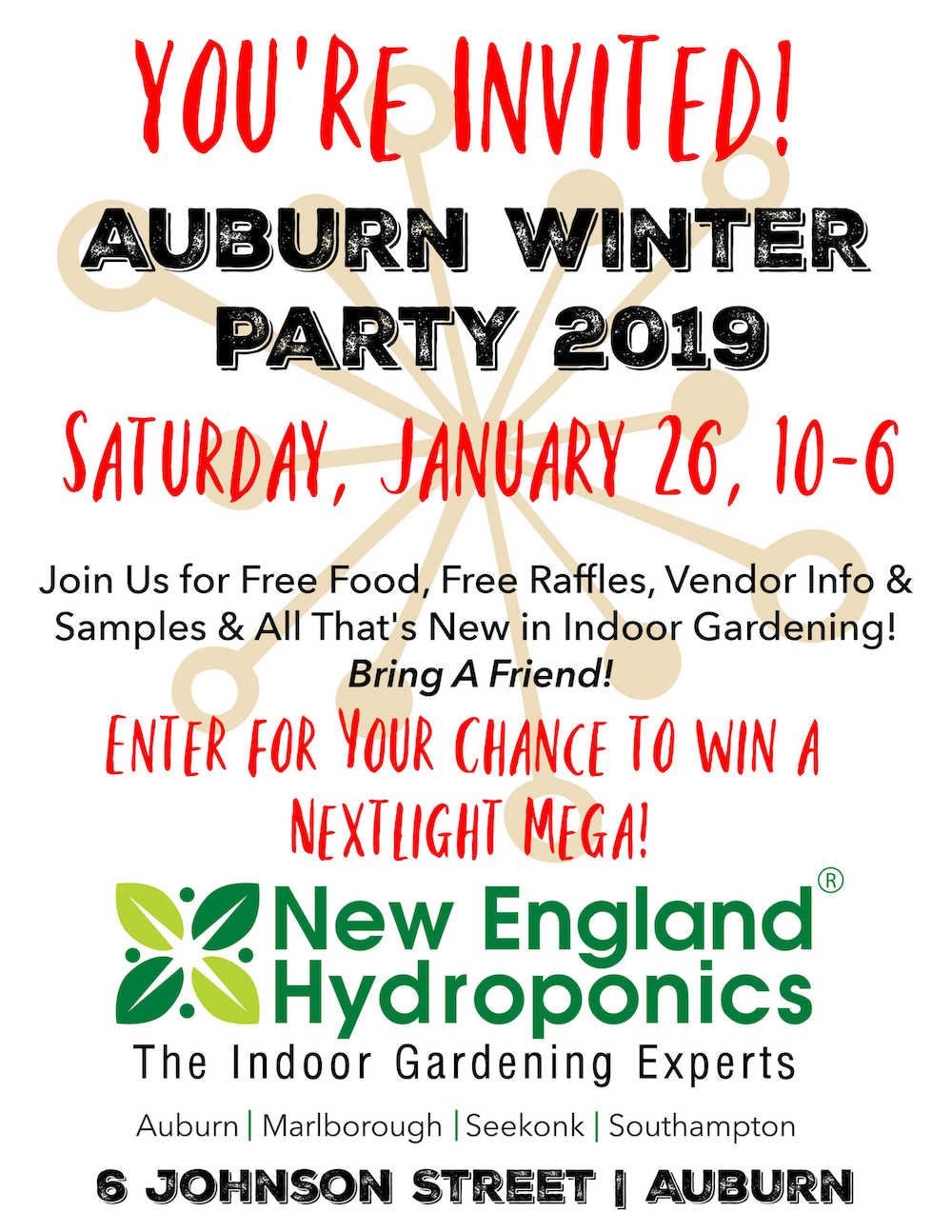 January 26 - Join Us for Our Free WINTER PARTY IN AUBURN!