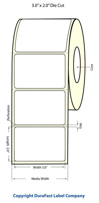 "TM-C3500 3"" x 2"" Inkjet (1A) Matte Paper Label 565/Roll  - 812015"