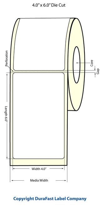 "TM-C3500 4"" x 6"" Inkjet (1A) Matte Paper Label 190/Roll  - 812022"