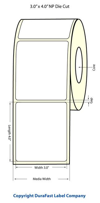 "TM-C3500 3"" x 4"" Inkjet NP (1A) Matte Paper Label 290/Roll  - 812025"