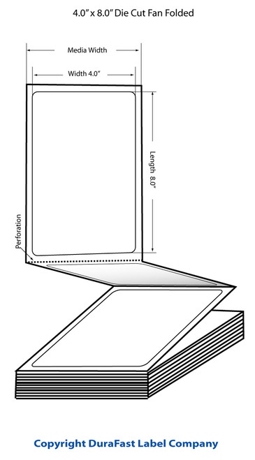 "TM-C3500 4""x 8"" (1A) Inkjet Matte Paper Label 500/Carton  - 812027"