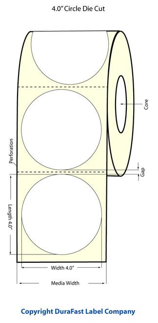 "TM-C3500 4"" Circle (1A) Inkjet Matte Paper Label 290/Roll  - 812033"