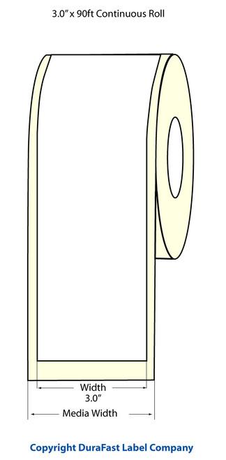 """TM-C3500 3"""" x 90ft Inkjet Chemical Label Roll  - 815002"""