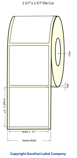 "TM-C3500 2.43"" x 2.43"" Inkjet NP Chemical Label 400/Roll  - 815027"
