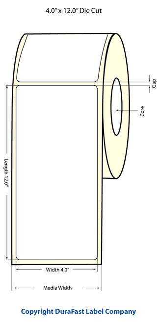 "LX900 4"" x 12"" Inkjet Matte Paper Label 200/Roll  - 932018"