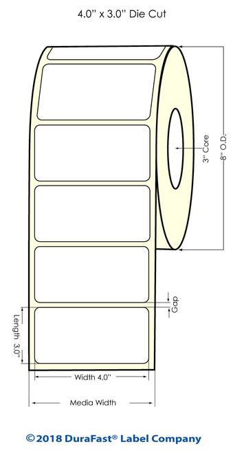 "TM-C7500 4"" x 3"" Inkjet NP Matte Paper Label 1800/Roll"