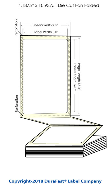 "300x - 8"" x Inkjet 14"" Chemical Label 600/Carton"