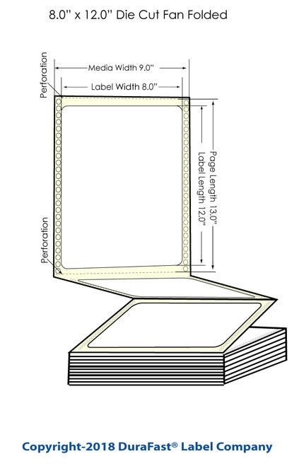 "300x - 8"" x Inkjet 12"" Chemical Label 600/Carton"