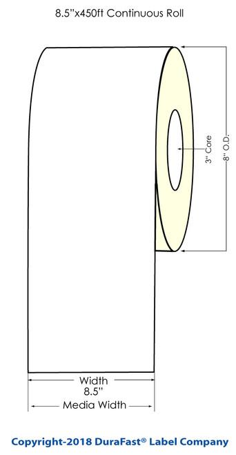 "300x - 8.5"" x Inkjet 500ft Chemical Label Roll"