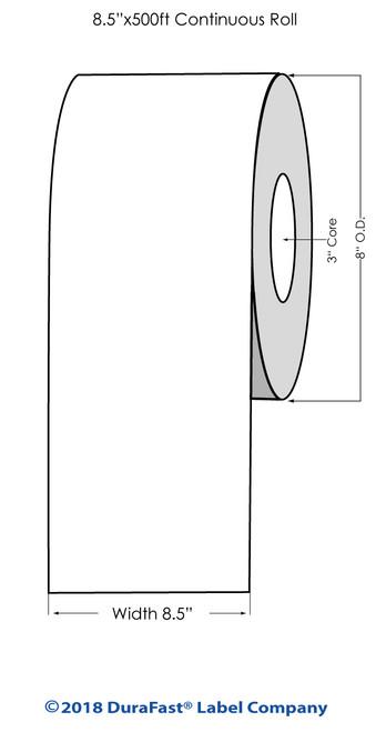 """iColor 700 Matte Paper Laser #1 8.5"""" x 500Ft Roll"""