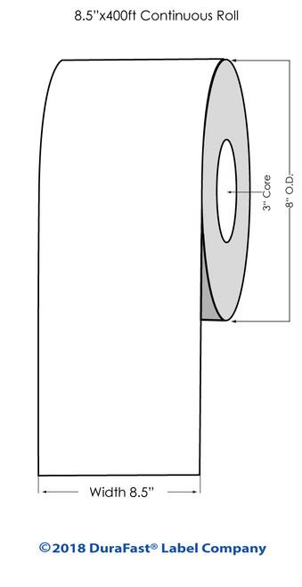 """iColor 700 White Matte Laser Vinyl 8.5"""" x 500Ft Roll"""