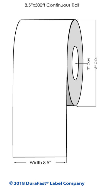 "iColor 700 Matte Polyester Laser #3 BS5609 8.5"" x 500Ft Roll"