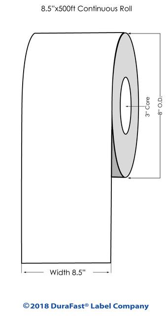"iColor 700 Matte Polyester Laser BS5609 #1 8.5"" x 500Ft Roll"