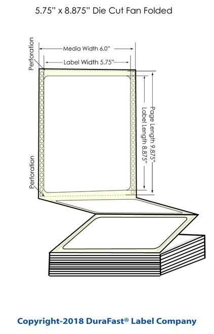 "GP-C831 5.75"" x 8.875"" Inkjet Chemical Labels 600/Carton"