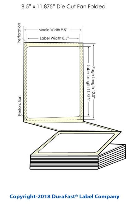 "GP-C831 8.5"" x 11.875"" Inkjet Chemical Labels 600/Carton"