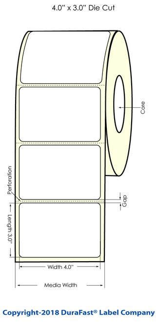 "TM-C3500 4"" x 3"" Inkjet (1A) Chemical Label 340/Roll"