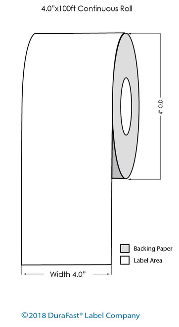 """Epson TM-C3500 4"""" x 100 Ft Chemical Tag Roll (815036)"""