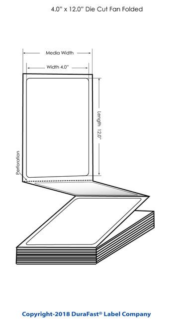 """TM-C3500 4"""" x 12"""" Inkjet Matte Tags 500/Carton"""