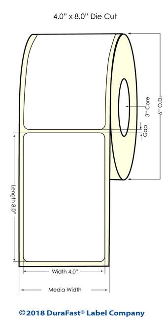 """TM-C7500G 4"""" x 8"""" Inkjet High Gloss Paper Labels 320/Roll"""