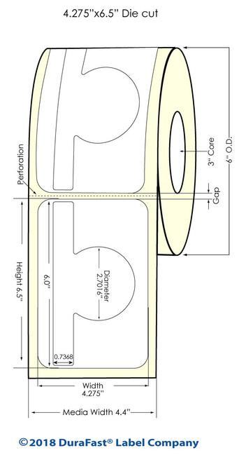 """TM-C7500G 2.9971"""" x 6"""" Inkjet High Gloss Paper Labels 400/Roll"""