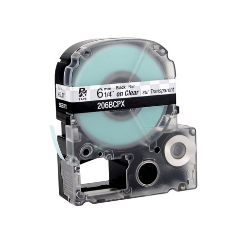 "Epson 206BCPX 1/4"" Clear Glossy Polyester Label PX Tape"