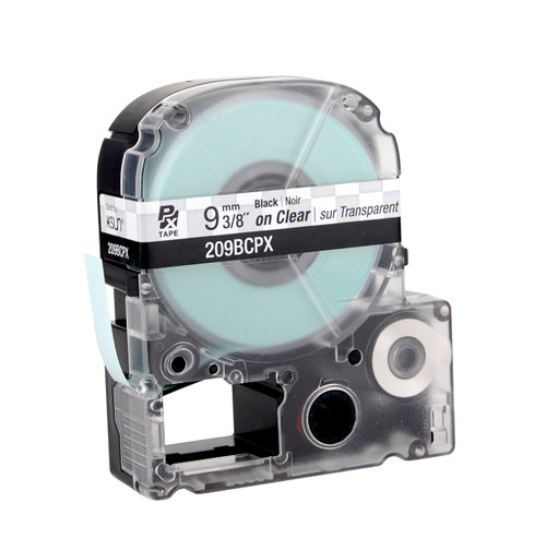 "Epson 209BCPX 3/8"" Clear Glossy Polyester Label PX Tape"