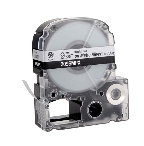 """Epson 209SMPX 3/8"""" Silver Matte Polyester Label PX Tape"""
