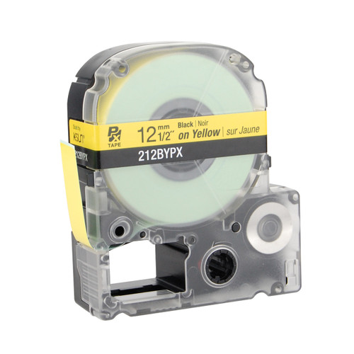 """Epson 212BYPX 1/2"""" Yellow Glossy Polyester Label PX Tape"""