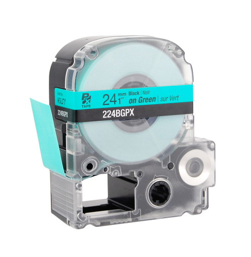 "Epson 224BGPX 1"" Green Glossy Polyester Label PX Tape"