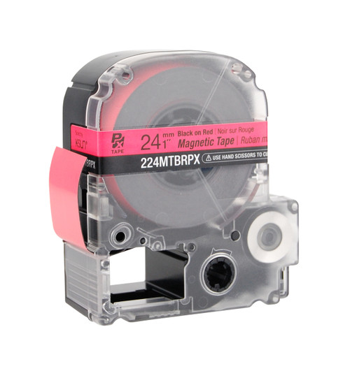 """Epson 224MTBRPX 1"""" Red Glossy Magnetic PX Tape"""