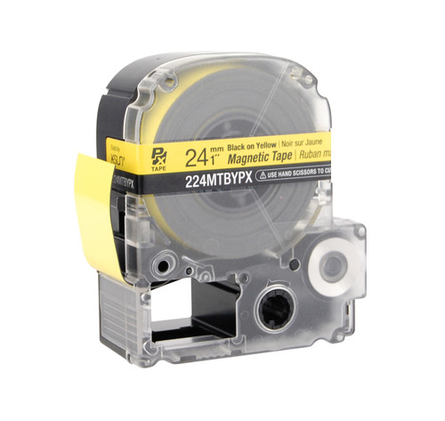 """Epson 224MTBYPX 1"""" Yellow Glossy Magnetic PX Tape"""
