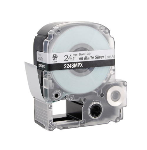 "Epson 224SMPX 1"" Silver Matte Polyester Label PX Tape"