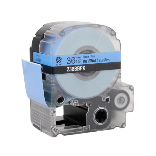"Epson 236BBPX 1 1/2"" Blue Glossy Polyester Label PX Tape"