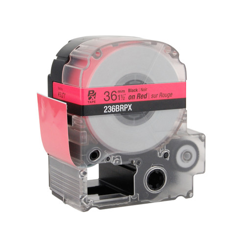 """Epson 236BRPX 1 1/2"""" Red Glossy Polyester Label PX Tape"""