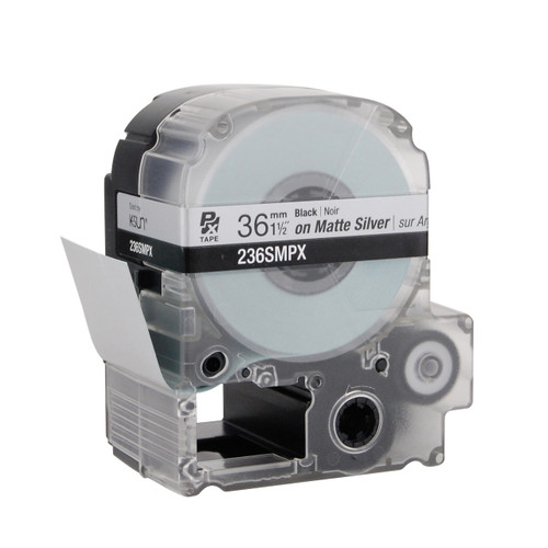 "Epson 236SMPX 1 1/2"" Silver Matte Polyester Label PX Tape"