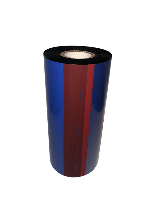 """Zebra 3.5""""x984 ft TR3022 Blue (286C) General Purpose Wax-24/Ctn thermal transfer ribbon"""