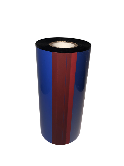 "Zebra 1""x1476 ft TR4085plus Resin Enhanced Wax-60/Ctn thermal transfer ribbon"